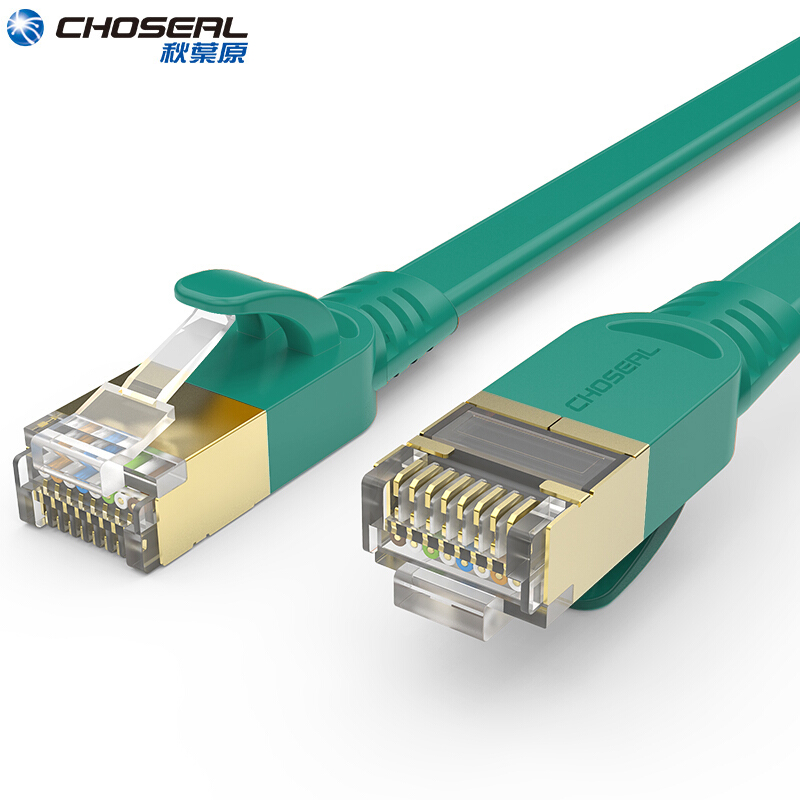 CHOSEAL Ethernet Network Cable RJ45 Flat Cat7 Lan Cable RJ 45 Ethernet Patch Cord Cable For Computer Router