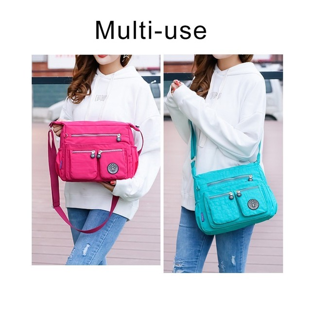 TTOU Ladies Fashion Shoulder Bags for Women Designer Waterproof Nylon Handbag Zipper Purses Messenger Crossbody Bag sac a main 2