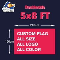 5x8FT Custom Flag Double sided Customize LGBT Banners 100D Polyester 240x150cm 2018 New Sale All Logos and Colors and Sizes
