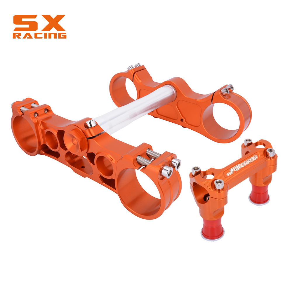 Moto Orange Triple Arbre Pinces De Tige de Direction Et De Barre Pour KTM SX SXF EXC XCW XCFW EXCF 125 250 350 450 530 2003-2012