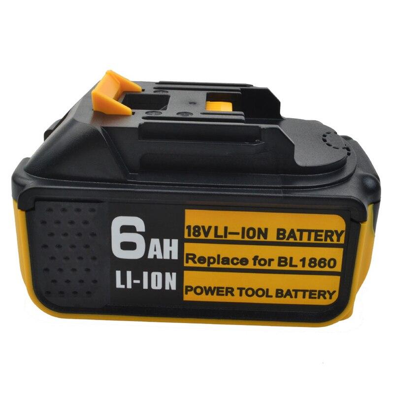 GTF nouvelle batterie au Lithium Rechargeable 18 V 6000 mah Li-ion pour Makita outils électriques forets remplacer pour BL1860 BL1840 BL1830