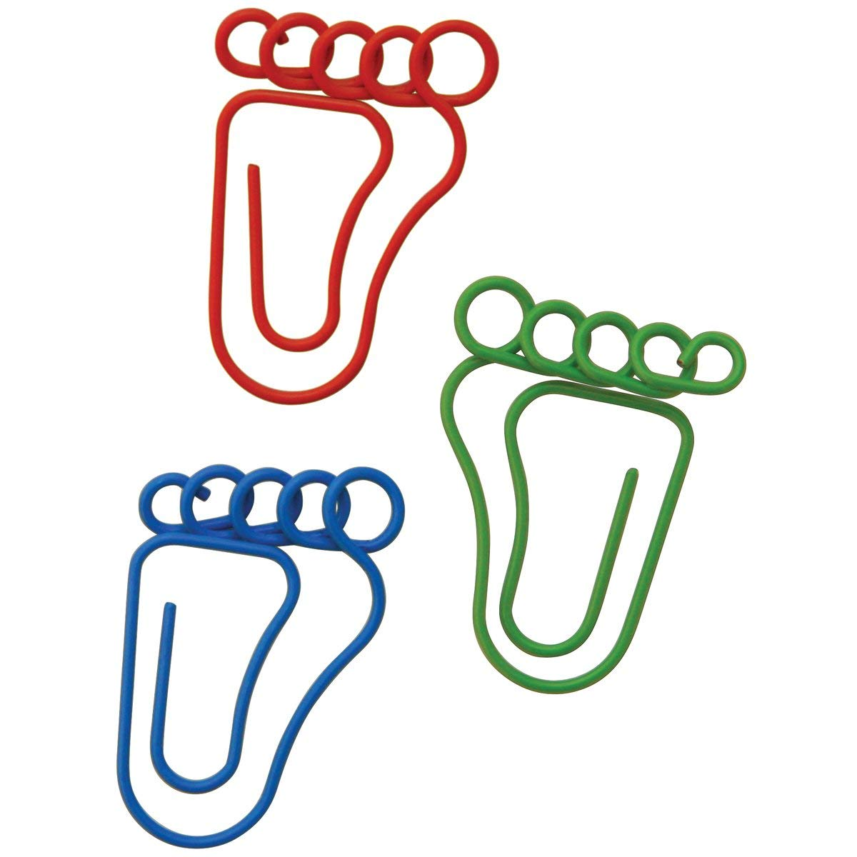 20 PCS Foot Shape Paper Clips Creative Interesting Bookmark Clip Memo Clip Shaped Paper Clips For Office School Home.
