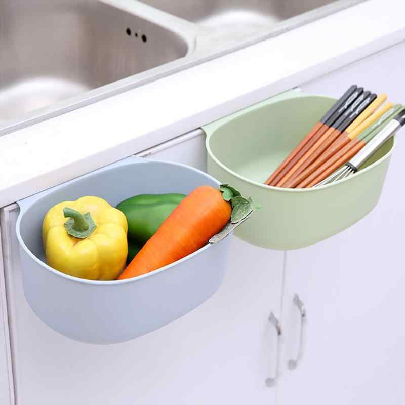 2019 New Random Color Storage Box Plastic Kitchen Waste Bin Cabinet Door Hanging Large Trash Can Storage Box Portable