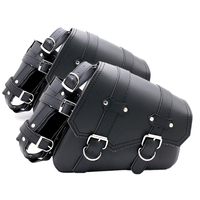 Mooreaxe 2x Motorcycle Saddle bags PU Leather Swingarm Bag Saddlebags Side Tool Bags Storage For Harley Sportster 883 1200XL