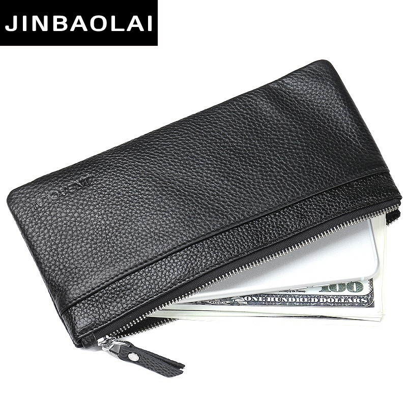 Luxury Brand Men Wallets Long Men Purse Wallet Male Clutch Leather Zipper Wallet Men Business Male Wallet Coin Pocket Clutch Bag new oil wax leather men s wallet long retro business cowhide wallet zipper hand bag 2016 high quality purse clutch bag page 8