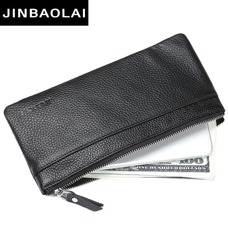 Luxury Brand Men Wallets Long Men Purse Wallet Male Clutch Leather Zipper Wallet Men Business Male Wallet Coin Pocket Clutch Bag