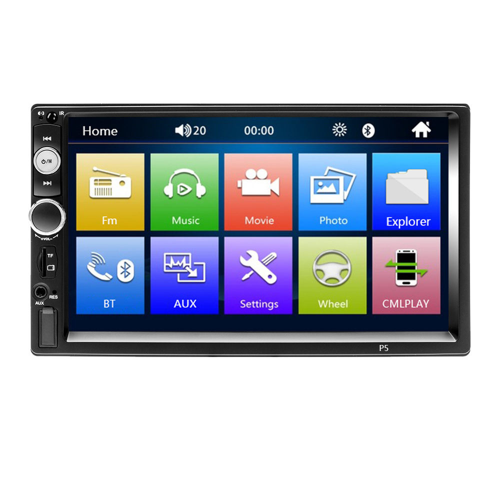 7-zoll 1080 P Drücken Bildschirm Auto Radio Mp3/mp5/fm Player Unterstützt Dvr Umkehrung Bild Bluetooth /usb/tf Mit Unterhaltungselektronik Radient Doppel Din Auto Stereo