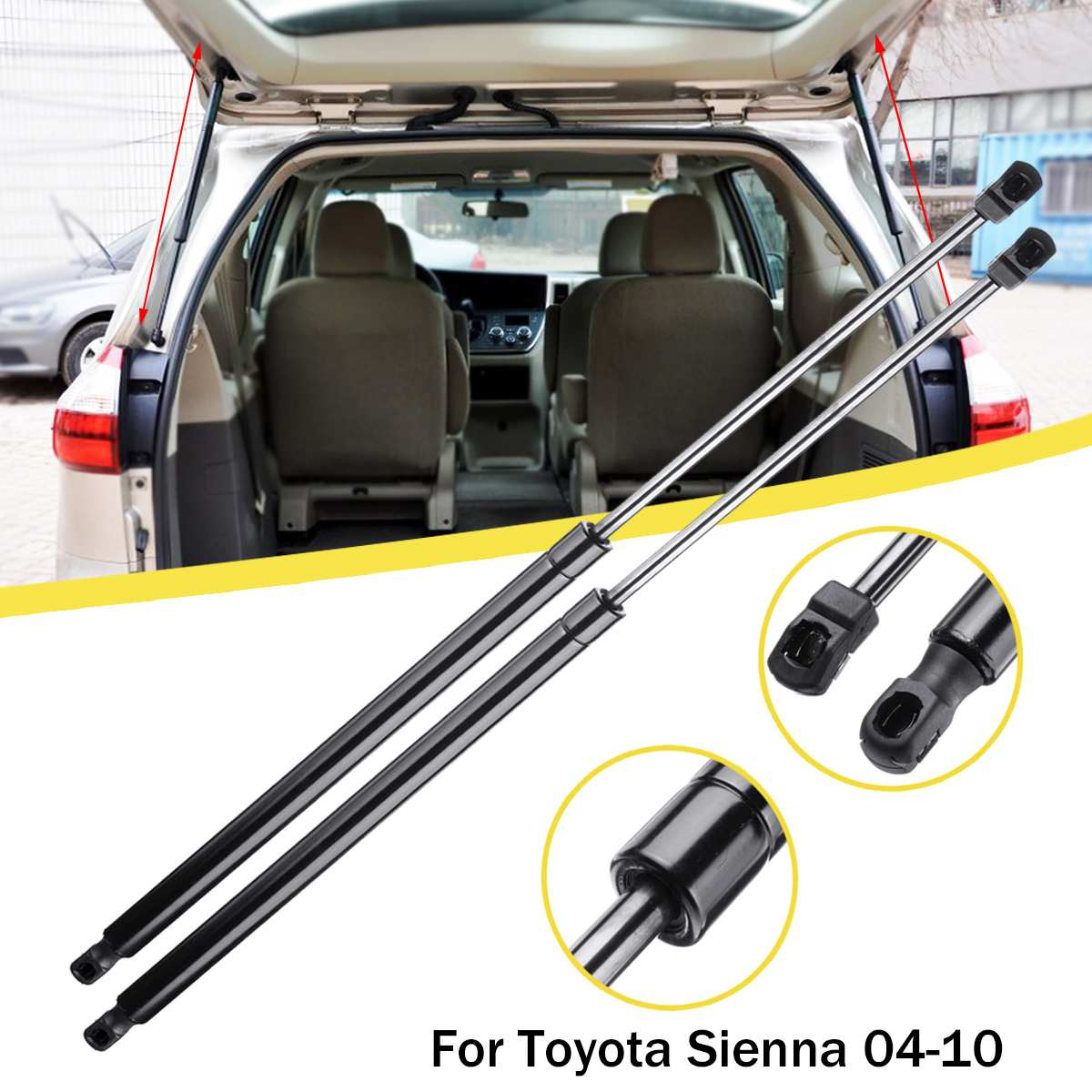 2 New Trunk Lift Supports Struts Props Rods Arms Volvo 940 1991-1995