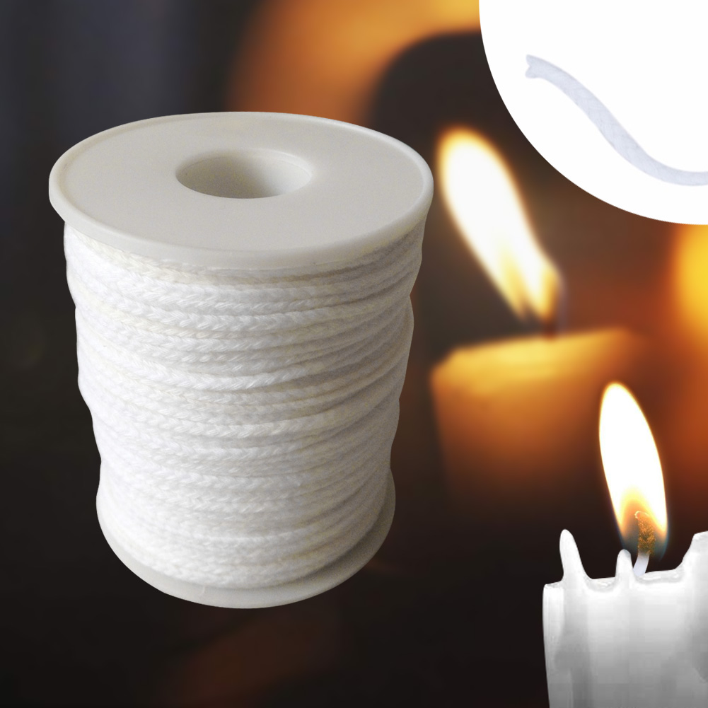 61m Supplies Candle For Candle Making Spool Crafts Cotton Hand Tool With Sustainers Waxed Smokeless Core