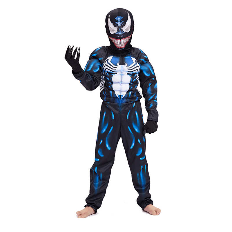 de2bbc999 ... New Arrival Child Black Spiderman Boys Muscle Venom Movie Character  Cosplay Superhero Halloween Carnival Fancy Dress ...