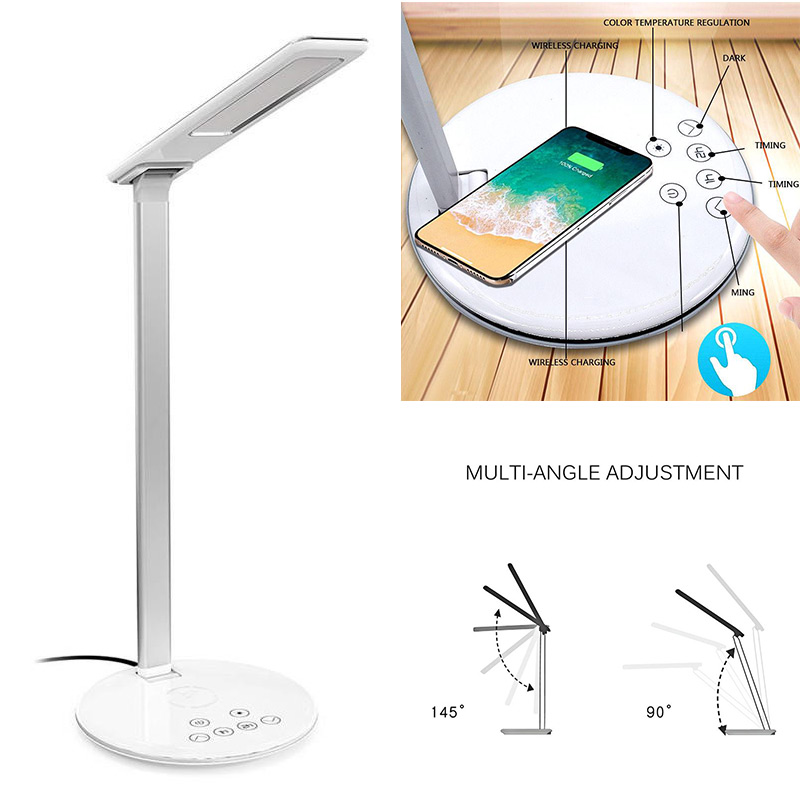 Wireless Charger LED Desk Lamp Table Lamp Folding 4 Light Color Temperature Light