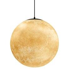 Nordic LED Moon Resin Pendant Lamp Ball Modern LED Pendant Light Restaurant Bedroom Living Room Dining Decoration Lighting Avize цена в Москве и Питере