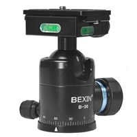 Bexin B 36 Panoramic Tripod Ball Head With Quick Release Plate Clamp Unc1/4 Inch Camera Screw For Nikon Sony Slr Camera
