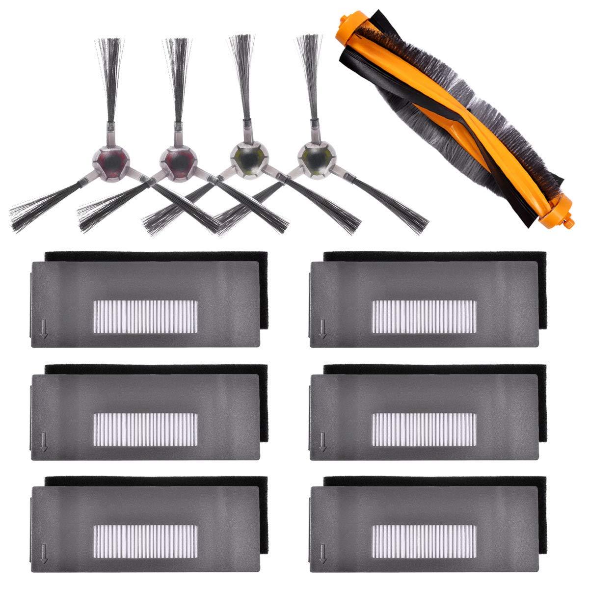 SANQ набор аксессуаров, совместимый с Ecovacs Deebot 901 900 Роботизированный Вакуумный, 6 фильтров + 2 набора кистей + 1 основная щетка