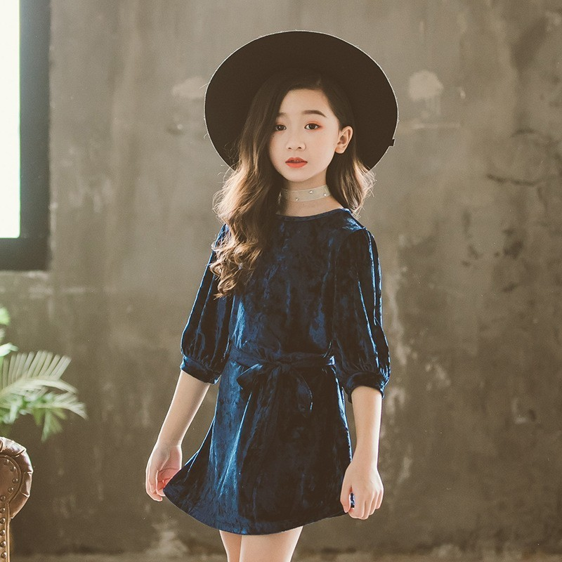 145b765e3c85f Teen Children Dress Party Red Blue Mother And Daughter Clothes 2019 Spring  Autumn Little Girls Princess Kids Dresses For Girls