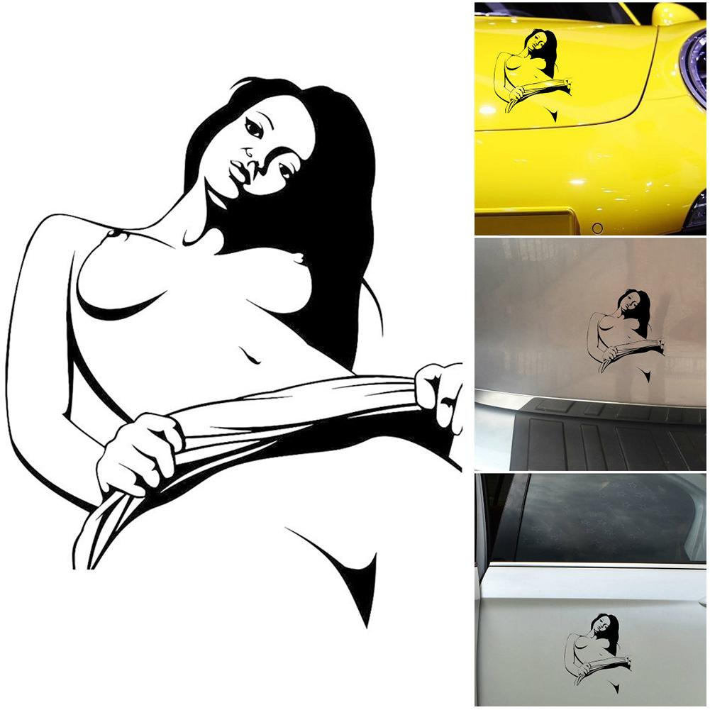 Car-styling Car Sticker <font><b>Sexy</b></font> Naked Girl On Board <font><b>3D</b></font> Stereoscopic Simulated Car Sticker Car Window Tail Door Sticker image