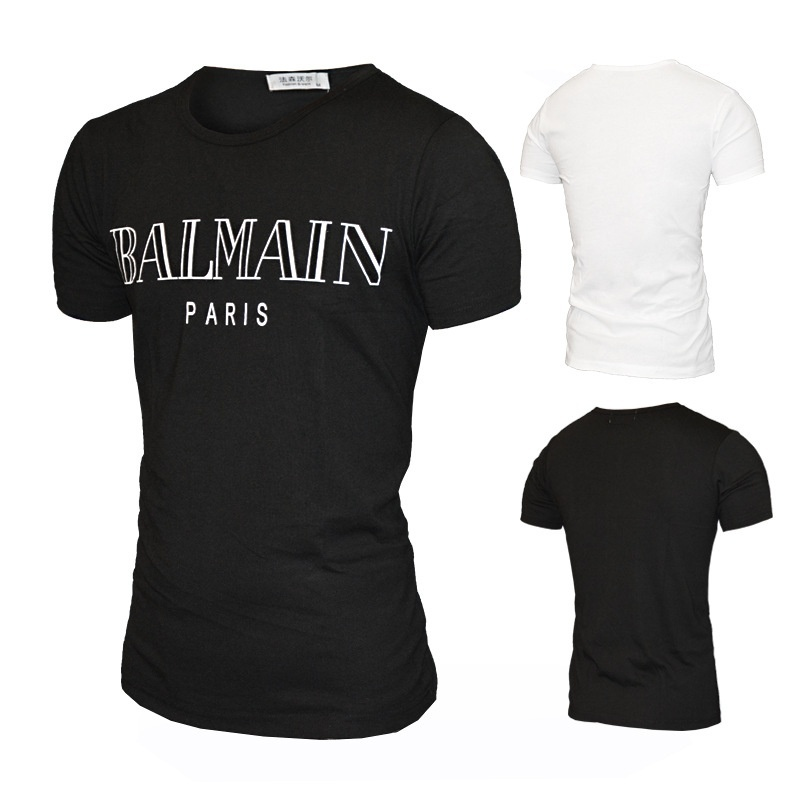 balmain shirt Summer Fashion Men's Clothing O-Neck Ballin Amsterdam Graphic Unisex T-shirt  Print Men Short Sleeve T Shirt Cool Tee Shirt