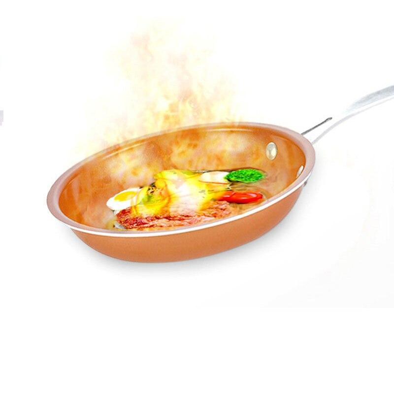 Антипригарным Koekenpan Koperen сковорода Koekenpan выполнены покрытие сковороды печь Geschikt индукционная плита под вок, titanium koekenpan