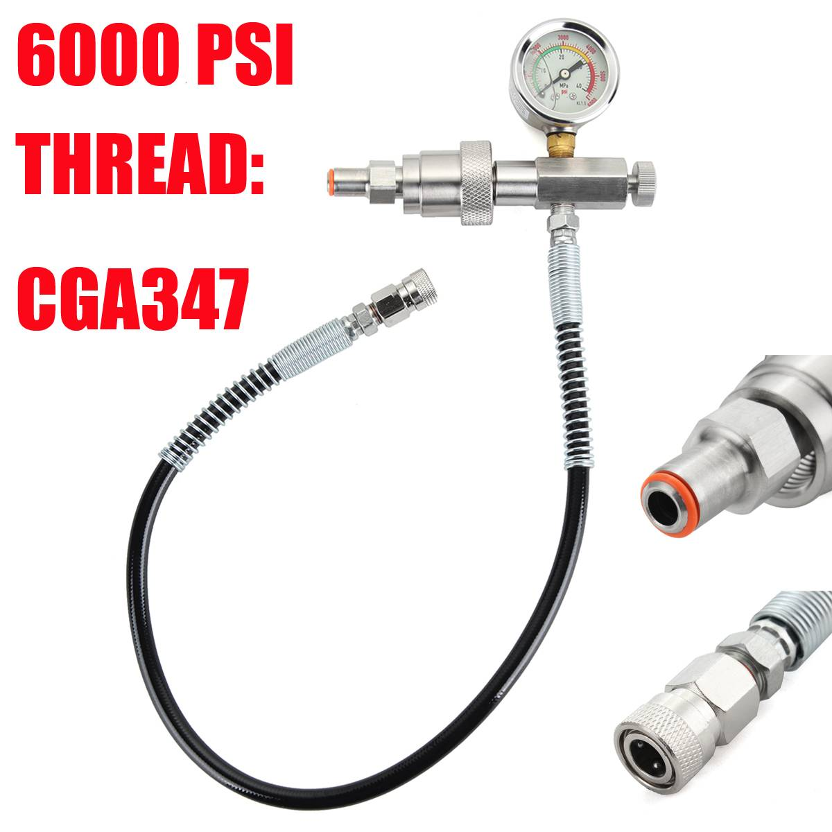 Arts,crafts & Sewing Systematic Paintball Pcp Scba Fill Station Charging Adapter With Hand Tight Cga347 Adapter And 24 Inch Microbore Hose New Varieties Are Introduced One After Another Diy Craft Supplies