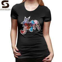 Pizza T-Shirt Jem And The Holograms Logo Group Color T Shirt Plus Size  Street Wear Women tshirt Black Pattern Ladies Tee Shirt 485b46aa7e9f