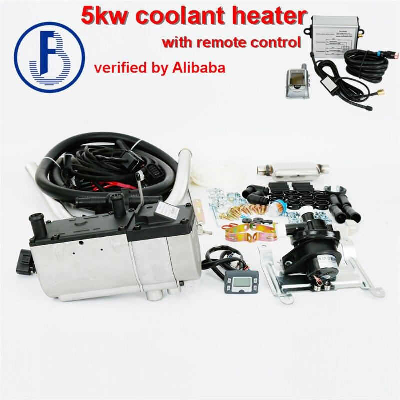 Avec télécommande chauffe-eau liquide 5kw 12 v diesel avec pompe à eau à l'extérieur similaire à eberspacher (pas d'origine)
