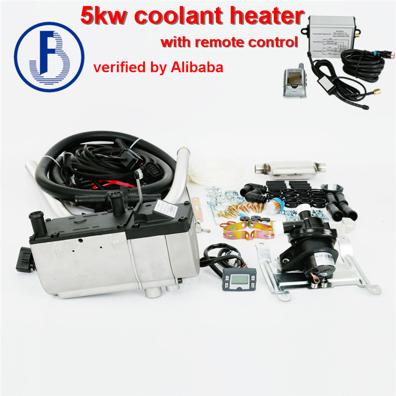 Con calentador de estacionamiento de agua líquido de control remoto 5kw 12 v diésel con bomba de agua exterior similar a eberspacher (no original)