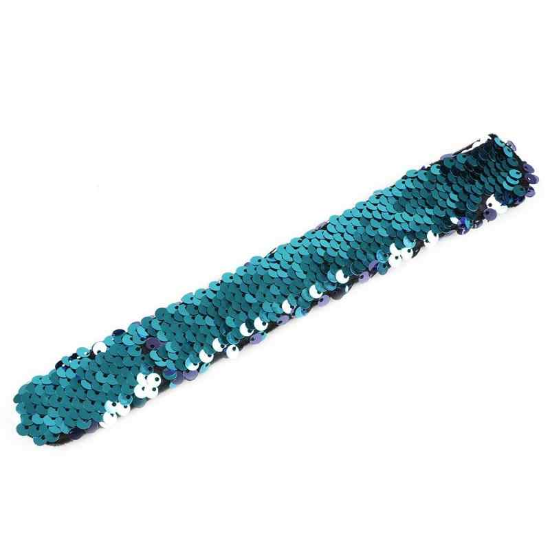 8 Color Baby Headbands For Girls Sequin Bracelets Glitter Wristband Headband Kids Party Favors Christmas Gift