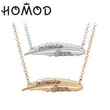 HOMOD 2019 Hots Ha Po Lvitating Spell Wingardium Leviosa Chains Necklace Hogwarts Feather  Pendant Jewelry