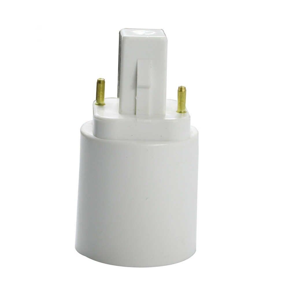 G24 To E27 Base Adapter White 2pin Base Fixture G24 To E27 Screw Base Convertor  PC Retardant For Led Lamp Bulb