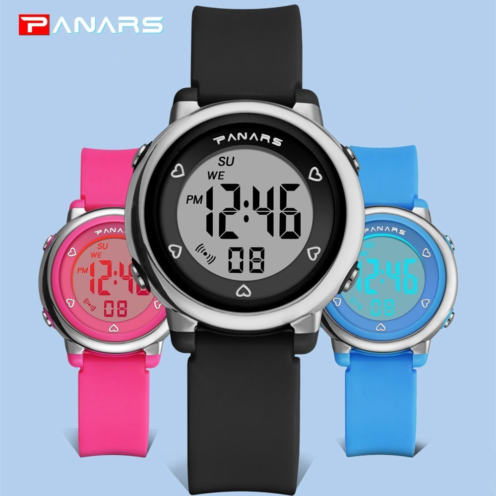 PANARS Kids Digital Watch Boy Sports Watches For Girls Chronograph Stopwatch Running Electronic Wrist Watches Children Plastic