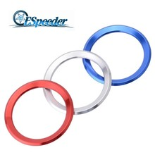 ESPEEDER Car Styling Decoration Ring Steering Wheel Trim Circle Sticker For BMW M3 M5 E36 E46 E60 E90 E92 X1 F48 X3 X5 X6
