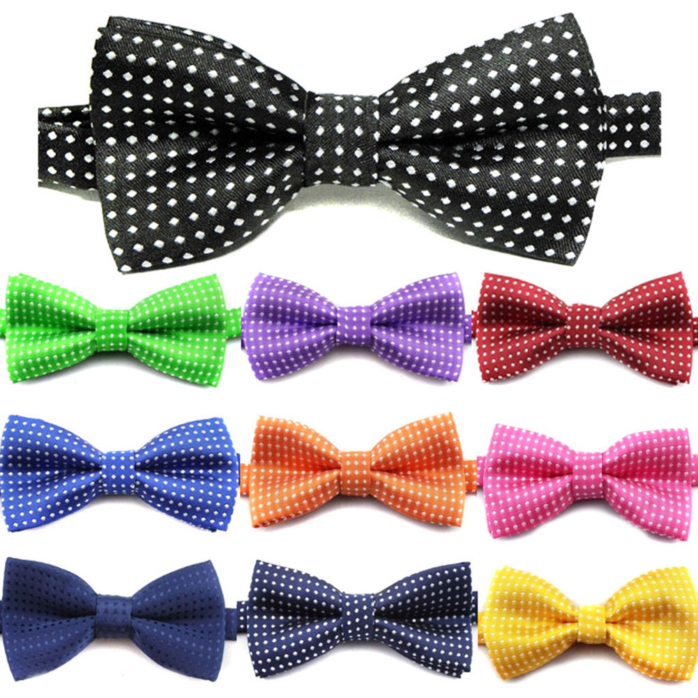 Colored Cool Kids Boys Polka Dot Bow Tie Fashion Skinny Slim Butterfly Wedding Party Pet Show Tuxedo Neck Ties Neckwear Corbatas