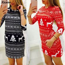 Xnxee Autumn Christmas Deer Snowflake Sweaters Women Long Sleeve Casual O Neck Slim Sweater and Pullover Winter Jumpers Tops