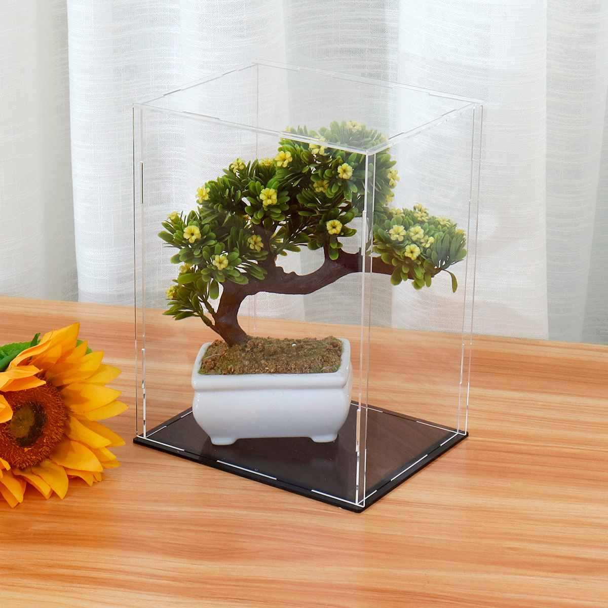 4 größe Acryl Display Zeigen Box Fall Cube Spielzeug Staub proof Tray Schutz Display Montiert Box Fall Für Kinder Blöcke spielzeug