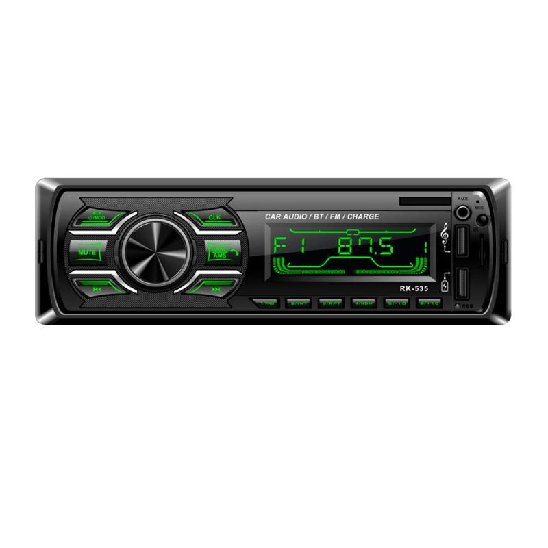Lecteur autoradio stéréo Audio voiture lecteur MP3 1Din In-dash voiture stéréo Audio lecteur MP3 TF carte U disque AUX double USB Bluetooth FM