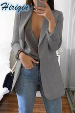 Women Casual Slim Long Sleeves Turn-Down Collar Cardigan Mid Solid Coat
