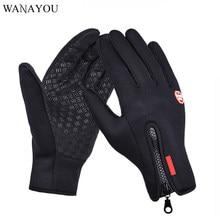 WANAYOU-guantes para correr con pantalla táctil a prueba de viento para hombre y mujer, de lana térmica, de deporte de abrigo, antideslizantes, para ciclismo y exteriores