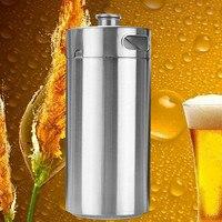 4L Premium Stainless Steel Homebrew Growler Mini Keg Beer Growler Leak Proof Top Lid Beer Bottle Home Brewing Making Bar Tool