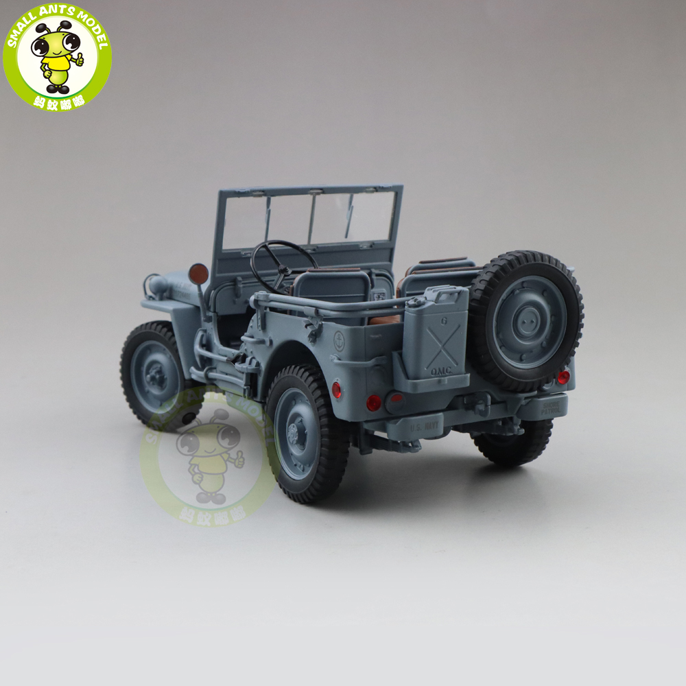 1/18 WELLY 1/4 Ton US ARMY WILLYS JEEP TOP DOWN Diecast Car Model Toys KIDS BOY GIRL GIFTS Gray-in Diecasts & Toy Vehicles from Toys & Hobbies    2