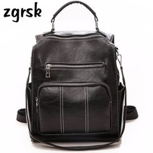 купить College Women Backpack Female Fashion Travel Waterproof Soft PU Leather Rucksack Preppy Style School Bag For Teenager Mochila по цене 1206.23 рублей