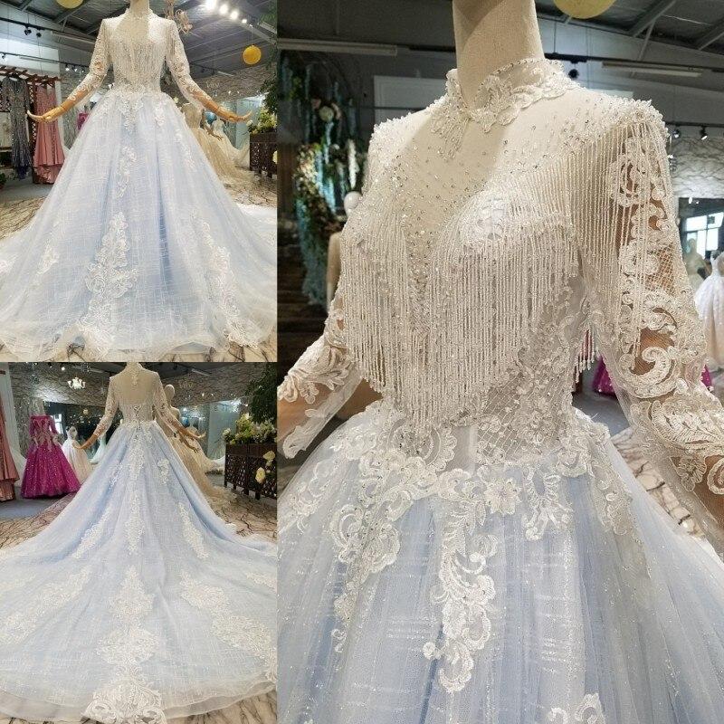 Original Wedding Dress Full Dress 2018 New Arrival One Shoulder Will Tailing Luxurious Court Bride 104474