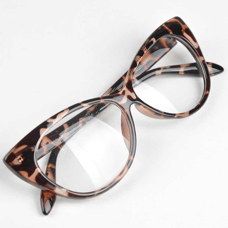 1293c9ea77 Retro Cat Eye Glasses Frame Vintage Leopard Women Men Glasses Frame Clear  Lens Flat Eyewear Goggles