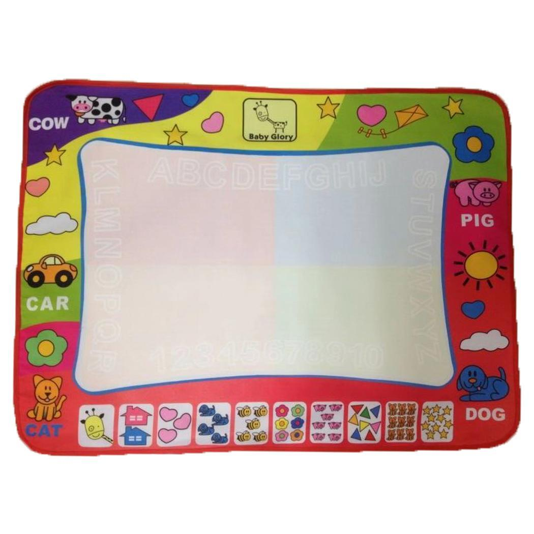 2018 80 x 60cm New Children baby toy Water Drawing Painting Writing Mat Board & Magic Pen Doodle Toy Gift Learning Drawing Toys