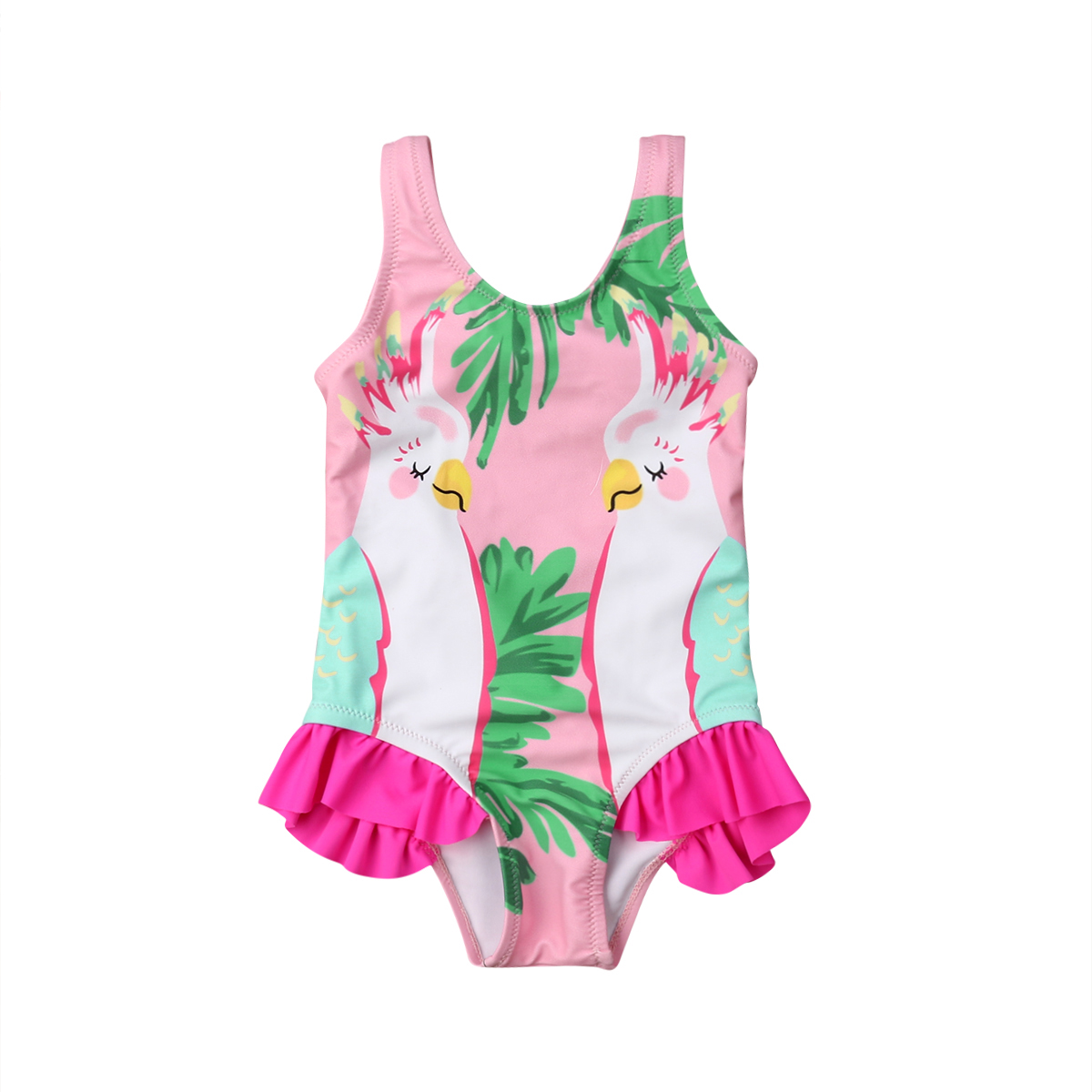 Kids Baby Girls Double Parrots girls Swimwear Swimsuit Bathing Suit BeachKids Baby Girls Double Parrots girls Swimwear Swimsuit Bathing Suit Beach