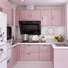 3M/5M/10M pink paint waterproof vinyl decorative film self adhesive wallpaper roll for kitchen furniture stickers pvc home decor 3m 0 6m glossy red paint furniture stickers removable vinyl diy wallpaper art pvc decals kitchen cabinet wall sticker home decor