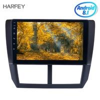 Harfey Android 8,1 9 дюймов Автомобильный Радио gps навигатор Quad core мультимедийный плеер для 2008 2009 2010 2012 Subaru Forester цифровой ТВ