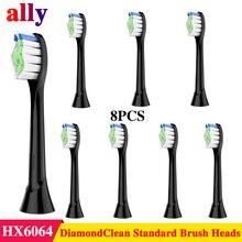 Сменные насадки для зубной щетки Sonicare DiamondClean подходит для Philips электрическая зубная щетка Sonicare, 8 шт. в упаковке