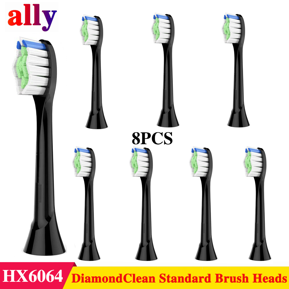 Replacement Brush Heads For Sonicare DiamondClean Toothbrush Fit Philips Sonicare Electric Toothbrush, 8 Pack