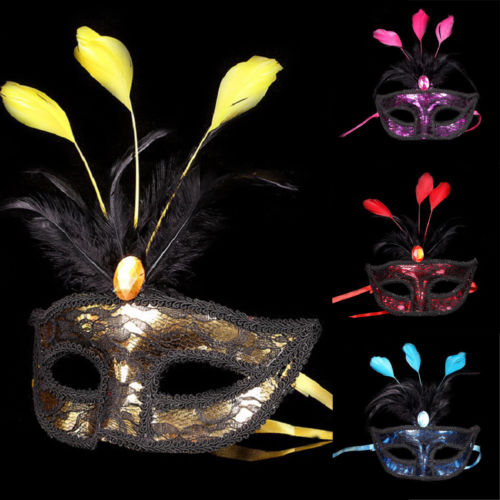 Christmas Masquerade Mask Feather Lace Venetian Mardi Gras Masks For Women Girls jeans con blazer mujer