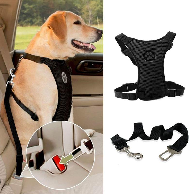 New Arrival Dog Harness Car Safety Seat Belt Leash Mesh Chest Strap Multi-function Breathable Pet Supplies
